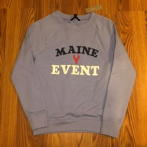 Maine Event terry cotton sweatshirt